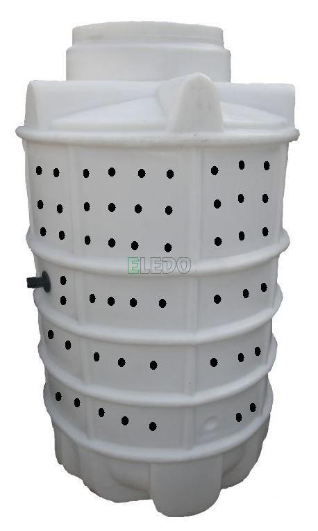 VSAKOVACÍ JÍMKA 1500l s poklopem, ODLITEK z polyethylenu (BEZ BETONOVÁNÍ)
